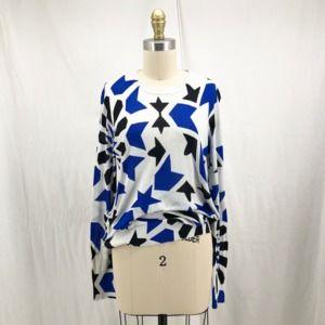 EQUIPMENT Geometric Star Print Rei Silk Sweater